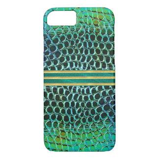 Blue Green Jewel Pattern iPhone 7 Case