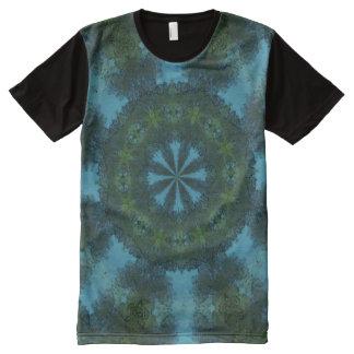 Blue-Green Kaleidoscope Print Shirt All-Over Print T-Shirt