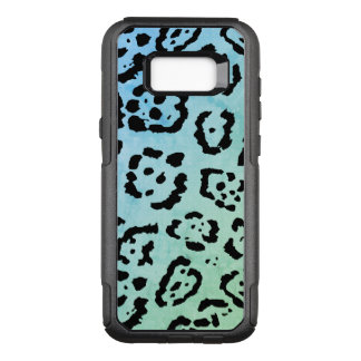 Blue Green Leopard Cat Animal Oil Paint Effect OtterBox Commuter Samsung Galaxy S8+ Case