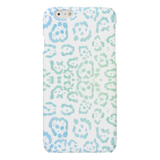 Blue Green Leopard Pastel Kawaii Animal Print