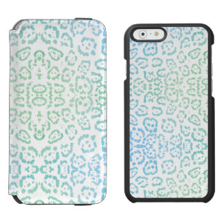 Blue Green Leopard Pastel Kawaii Animal Print Incipio Watson™ iPhone 6 Wallet Case