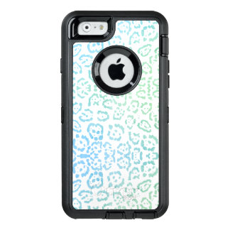 Blue Green Leopard Pastel Kawaii Animal Print OtterBox iPhone 6/6s Case