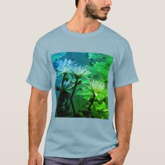 Blue & Green Lotus Waterlily T Shirt