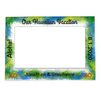 Blue Green Luau Hawaiian Vacation Photo Frame