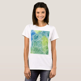 Blue & Green Marble Squiggle T-Shirt