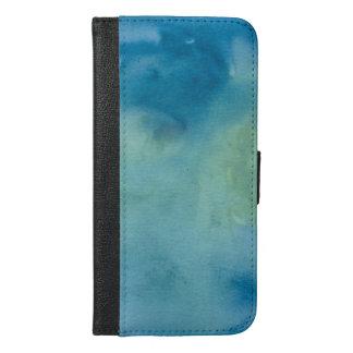 Blue & Green Marble Watercolour iPhone 6/6s Plus Wallet Case