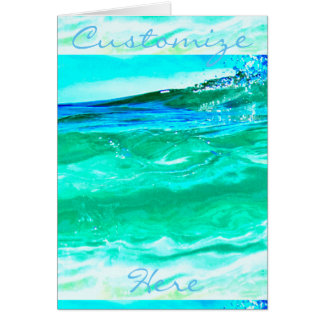 blue/green maui wave pattern Thunder_Cove Card