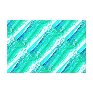 blue-green Maui waves pattern Canvas Print