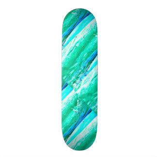 blue/green Maui waves Thunder_Cove 21.6 Cm Old School Skateboard Deck