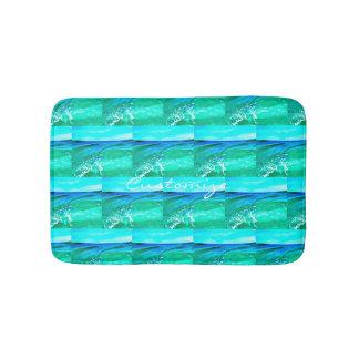 blue/green maui waves Thunder_Cove Bath Mat