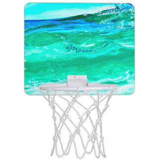blue/green maui waves Thunder_Cove Mini Basketball Hoop