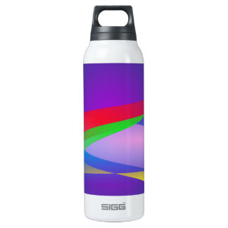 Blue Green Minimalism Abstract Art 0.5 Litre Insulated SIGG Thermos Water Bottle