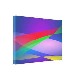 Blue Green Minimalism Abstract Art Stretched Canvas Prints