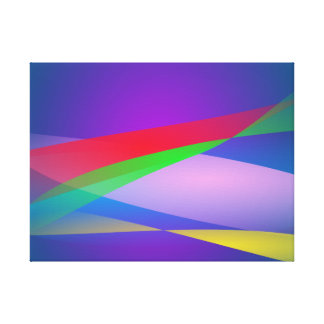 Blue Green Minimalism Abstract Art Gallery Wrap Canvas