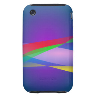 Blue Green Minimalism Abstract Art Tough iPhone 3 Covers