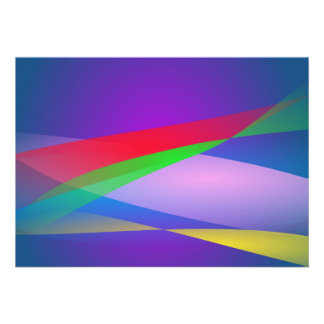 Blue Green Minimalism Abstract Art Personalized Announcements