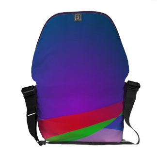 Blue Green Minimalism Abstract Art Courier Bag
