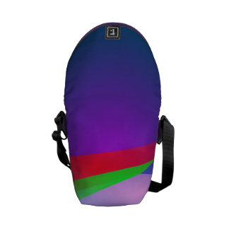 Blue Green Minimalism Abstract Art Courier Bags