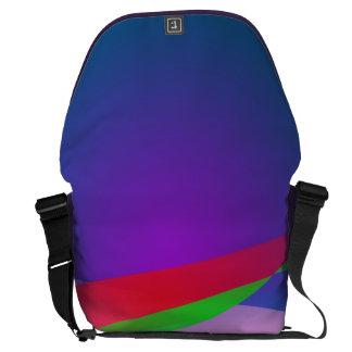 Blue Green Minimalism Abstract Art Messenger Bags