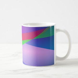 Blue Green Minimalism Abstract Art Mug