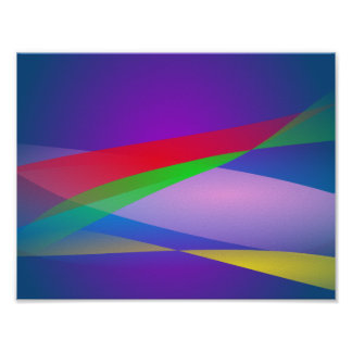 Blue Green Minimalism Abstract Art Poster