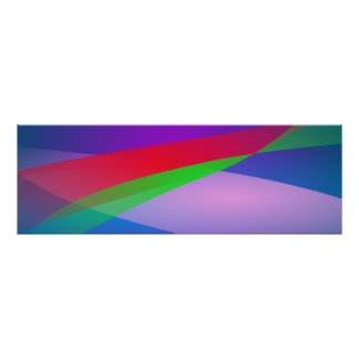 Blue Green Minimalism Abstract Art Posters