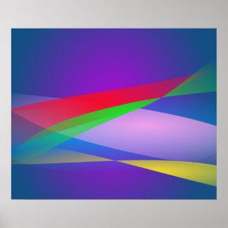 Blue Green Minimalism Abstract Art Print