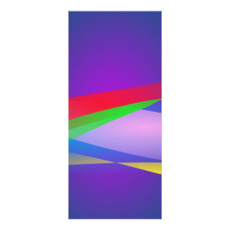 Blue Green Minimalism Abstract Art Personalized Rack Card