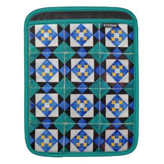 Blue Green Mosaic iPad Sleeve