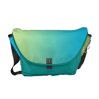 Blue & Green Ombre Commuter Bag