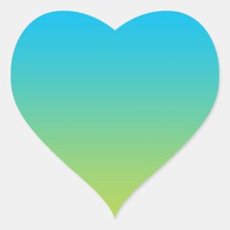 Blue & Green Ombre Heart Sticker