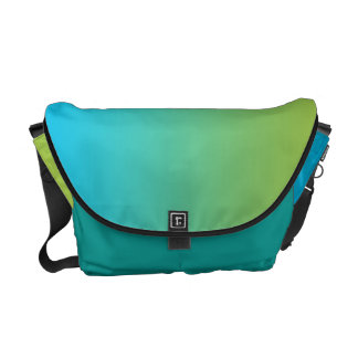 Blue & Green Ombre Messenger Bag