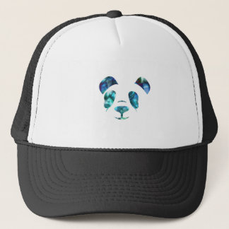 Blue Green Panda Trucker Hat