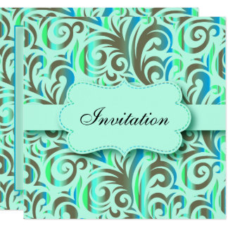 Blue & Green Pattern Party Celebration | DIY Text Card