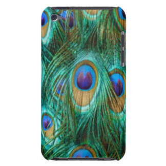 Blue Green Peacock Feathers Barely There iPod Case