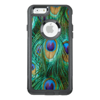 Blue Green Peacock Feathers OtterBox iPhone 6/6s Case