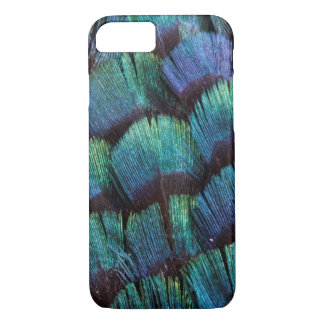 Blue-green pheasant feather design iPhone 8/7 case