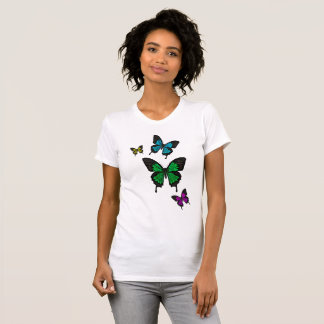 Blue/green/pink/yellow  Swallow tail Butterfly T-Shirt