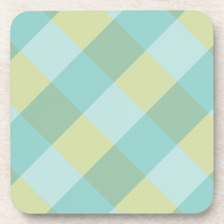 blue green plaid coaster