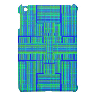 blue green plaid i-pad mini iPad mini cover