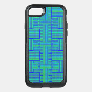 blue green plaid phone case