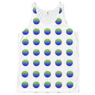 Blue Green Polka Dots All-Over Print Tank Top