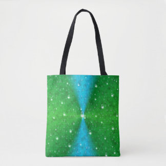 Blue Green Rainbow in Elephantenskin leatheroptik Tote Bag