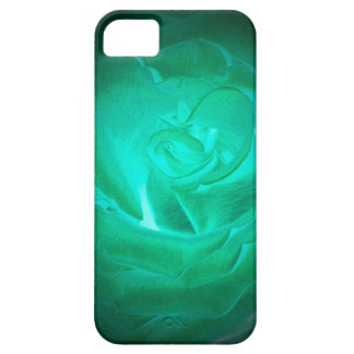 blue-green rose, imitation glow case for the iPhone 5
