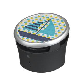 Blue Green Sail Boat Bluetooth Speaker