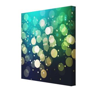 Blue/Green Sparkles Light Design Stretched Canvas Prints