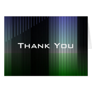 Blue/Green Striped Thank You Greeting Card