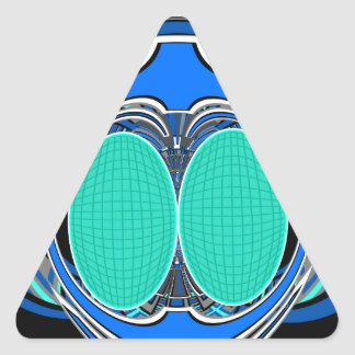 Blue green superfly triangle stickers