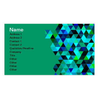 Blue Green Technology Triangle Pattern Business Card Template