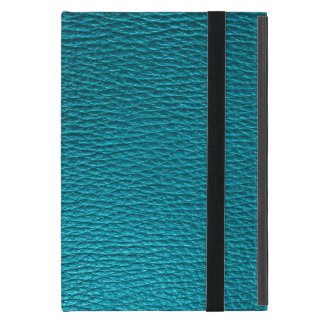 Blue-Green Tones Fox Leather Look Case For iPad Mini